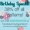 Today I am another year older and what better way to celebrate than a sale!?!?  Today and tomorrow get 38% off your entire order of my quilt patterns. Paper or PDF! Enjoy!!! Mwuah!! #sale #freckledwhimsy #pattern #birthday