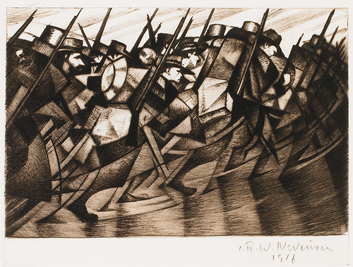 CRW-Nevinson,-Returning-to-the-Trenches,-1916,-drypoint,-15-x-20--cm.-Courtesy-of-Osborne-Samuel