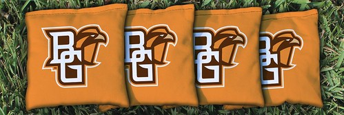 BOWLING GREEN STATE UNIVERSITY FALCONS ORANGE CORNHOLE BAGS