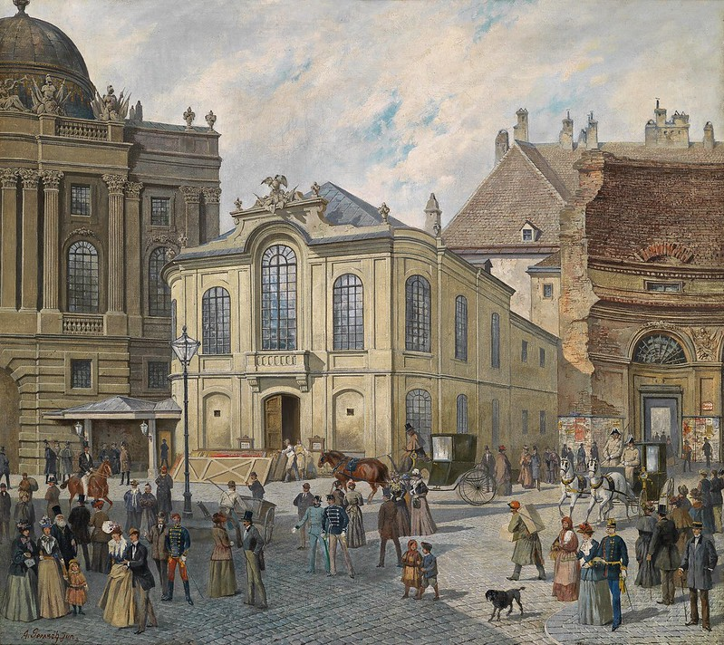 August Gerasch - A busy day at the old Viennese Burgtheatre near Michaelator