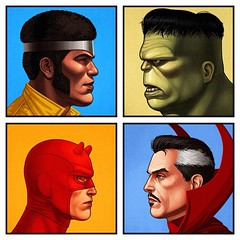 Defenders from Mike Mitchell. #comics