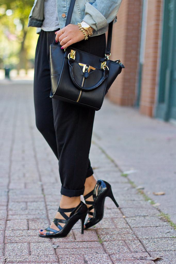 slouchy black pants, grey tee, denim jacket-6.jpg