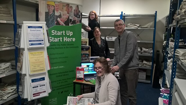 Setting up at the Business Information Centre