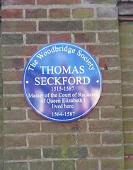 Photo of Thomas Seckford blue plaque