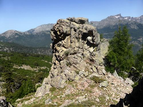 La brèche de la traversée Lavigliolu - Bergeries de Palicchiosa