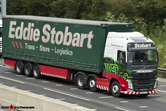 Volvo FH 6x2 Tractor with 3 Axle Curtainside Trailer - KP63 JJZ - H4951 - Patsy Elizabeth - Eddie Stobart - M1 J10 Luton - Steven Gray - IMG_5852