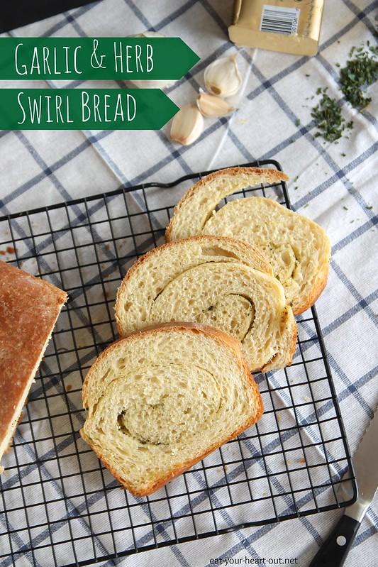 Garlic and Herb Swirl Bread