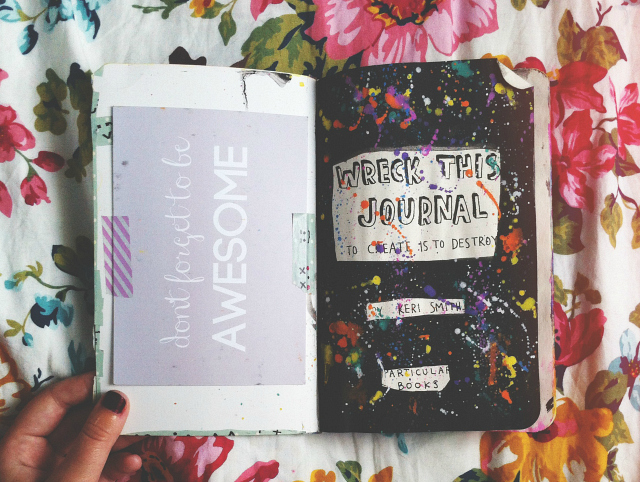 wreck this journal pages creativity with bee uk lifestyle book blog vivatramp