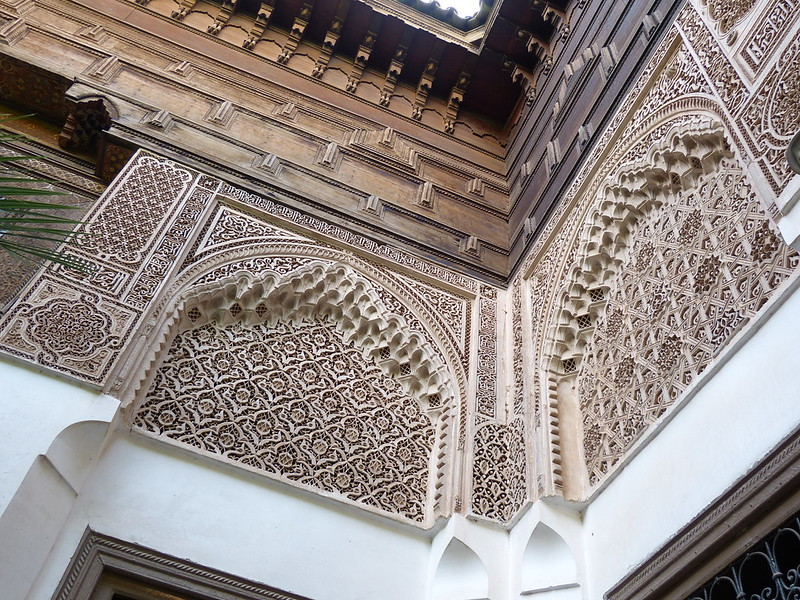 Detail of Bahia Palace, Marrakesh