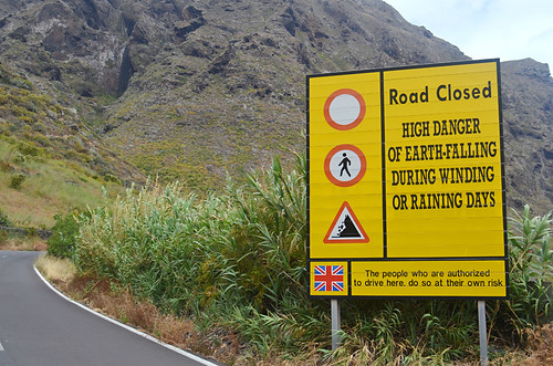 Warning signs on Teno road