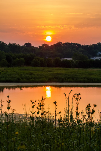 sky nature sunrise canon illinois midwest july edwardsville 2014 eos7d watershednaturecenter