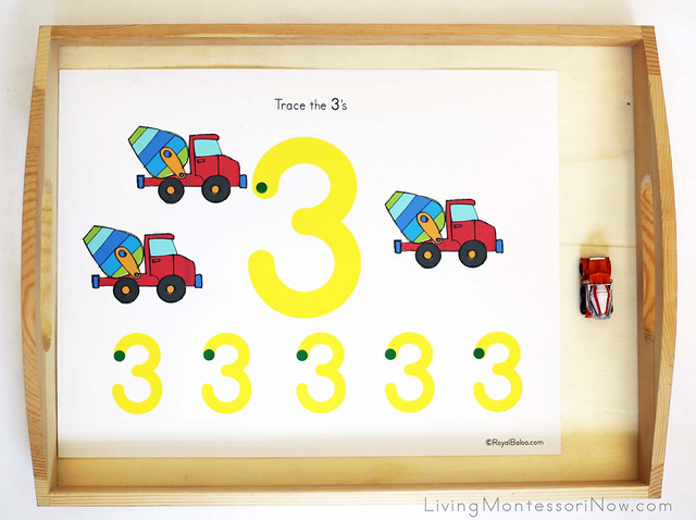 Cement Mixer Number Tracing Tray