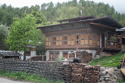 Traditional Bhutanese house in Bumthang