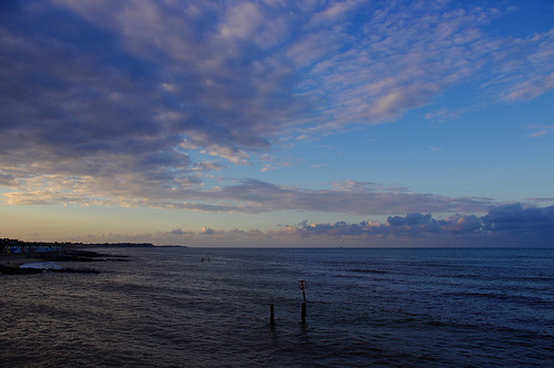 D09882.  Sky, Clouds and Sea at Southwold in Suffolk.