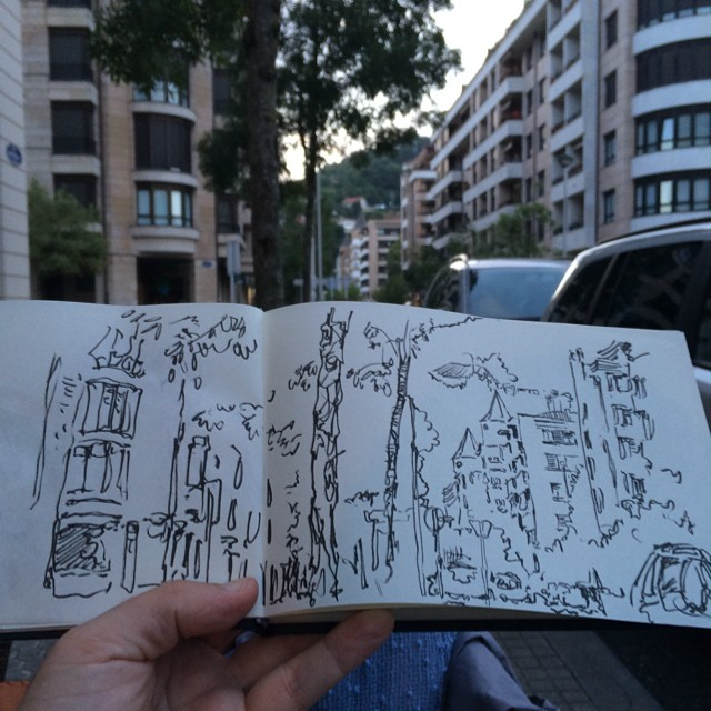 #donostia #brush #urbansketch
