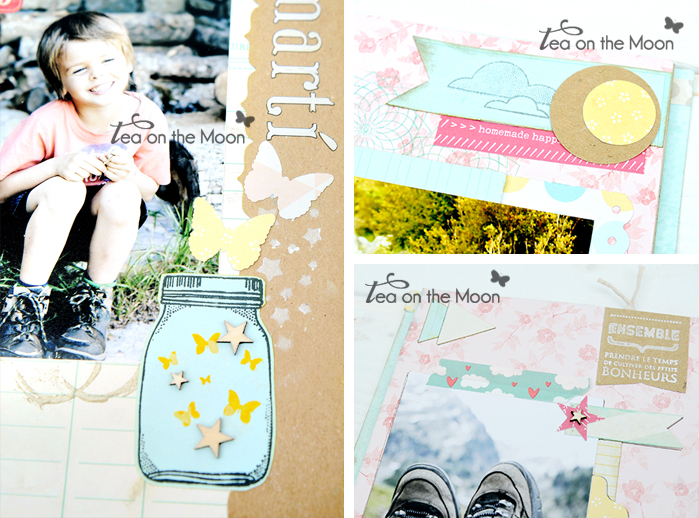 Mini album scrapbook Taller Tea on the moon