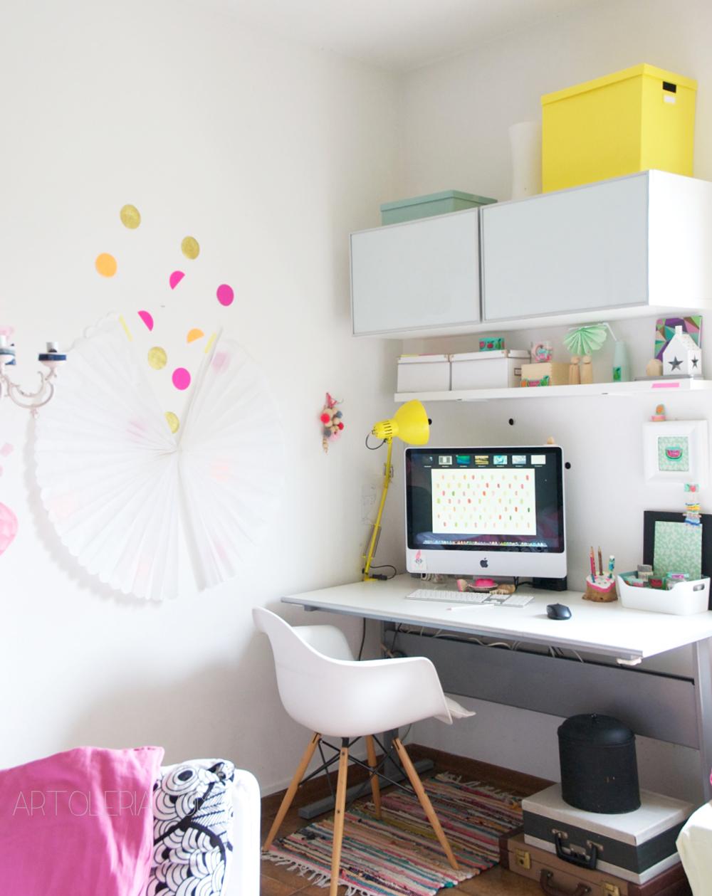 home studio - angolo ufficio per l'estate