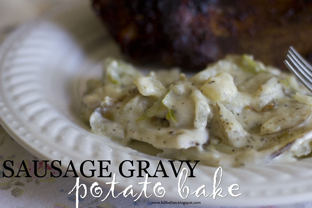 Sausage Gravy Potato Bake