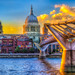 st paul cathedral and millennium bridge sunset, London (1 of 1) by Nillllll