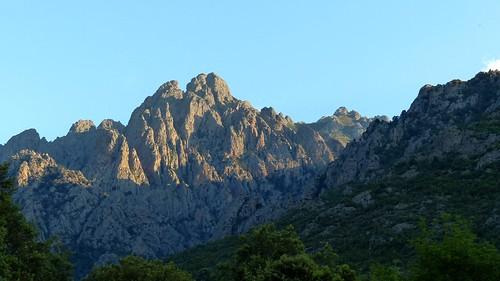 Le massif de Popolasca en fin de journée