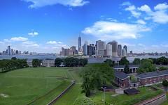 Lower Manhattan & Governors Island 2 Images Panorama II