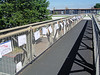 Childrens' Protests Over The Proposed Demolition Of The A316 Footbridge In St Margaret's - London.