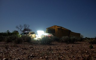 Camping Spot at Hutchison Memorial, Coober Pedy