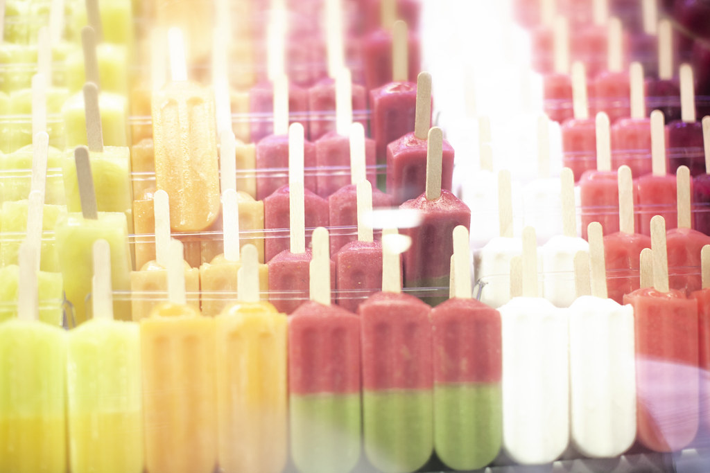 postcards from Barcelona, popsicles at La Boqueria