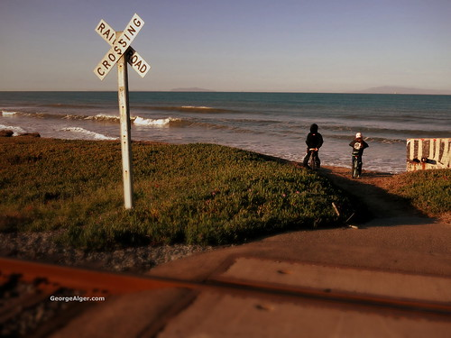 Ocean-View Railroad Crossing, by George Alger