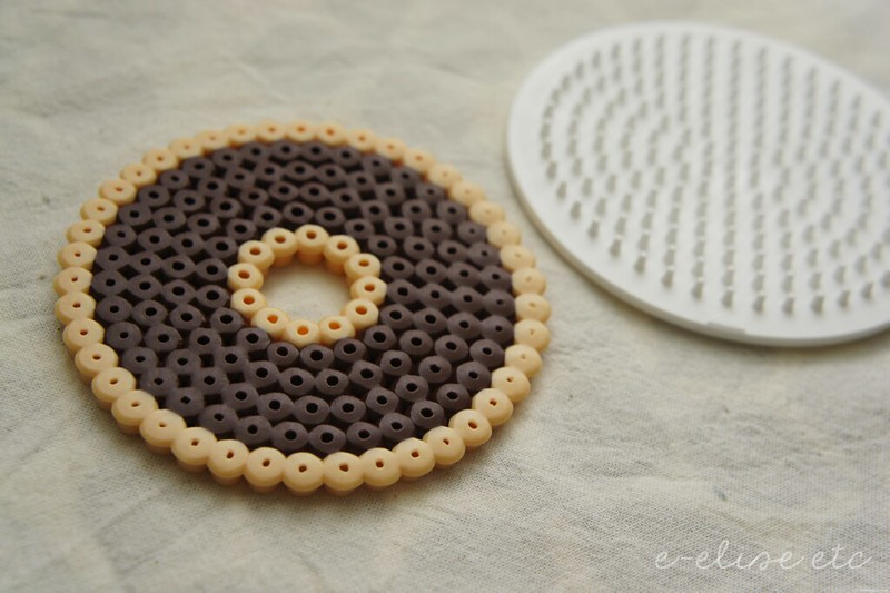 DIY donut ornament craft tutorial hama beads