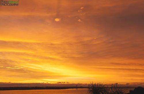 morning windows sky orange water yellow clouds digital sunrise canon river fire eos early reflex view outdoor silhouettes 5d parana posadas markii canoneos5dmarkii 5dmkii pabloreinschphotography