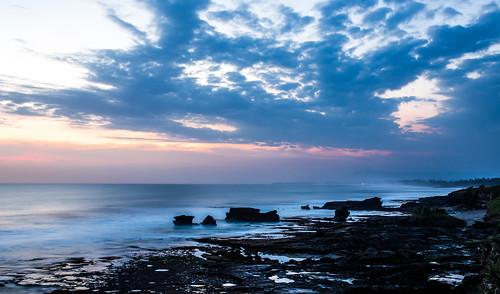 sunset sea bali beach colors indonesia tanahlot kediri