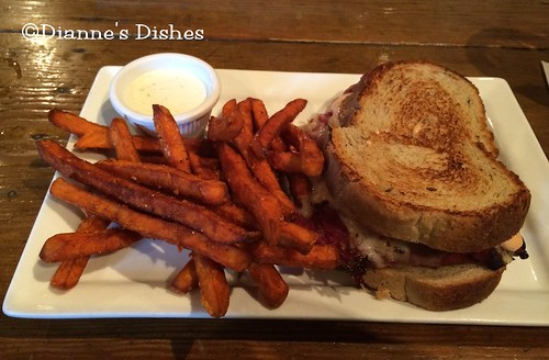 The Main Cup: Reuben and Sweet Potato Fries