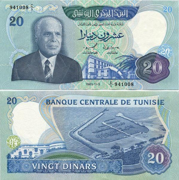 20 Dinárov Tunisko 1983, Pick 81