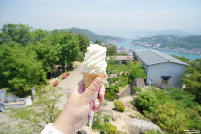 尾道 白桃冰淇淋
