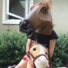 Horse head likes pony rides too
