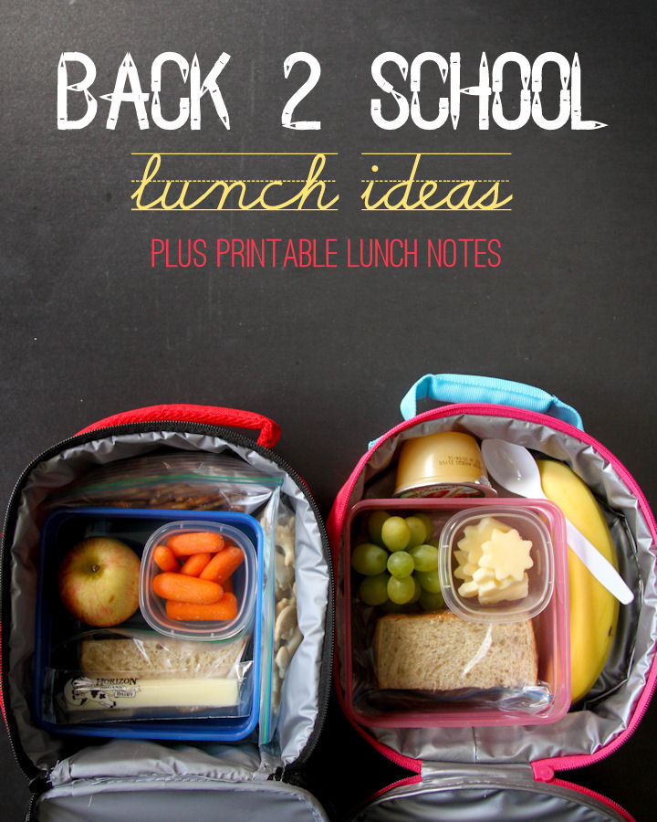 Back 2 School Lunch Ideas