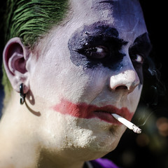 joker(1.0), nose(1.0), face(1.0), head(1.0), fictional character(1.0), close-up(1.0), mouth(1.0),