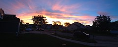 South Elgin Residential Sunset Panorama