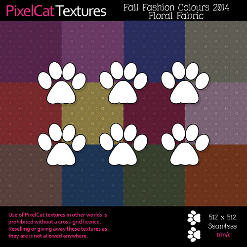 PixelCat Textures - Fall Fashion Colours 2014 - Floral Fabric