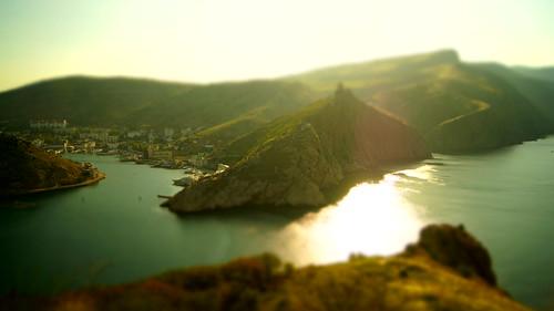 sea black sunrise bay russia magic balaklava