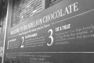 Dandelion Chocolates - Sign