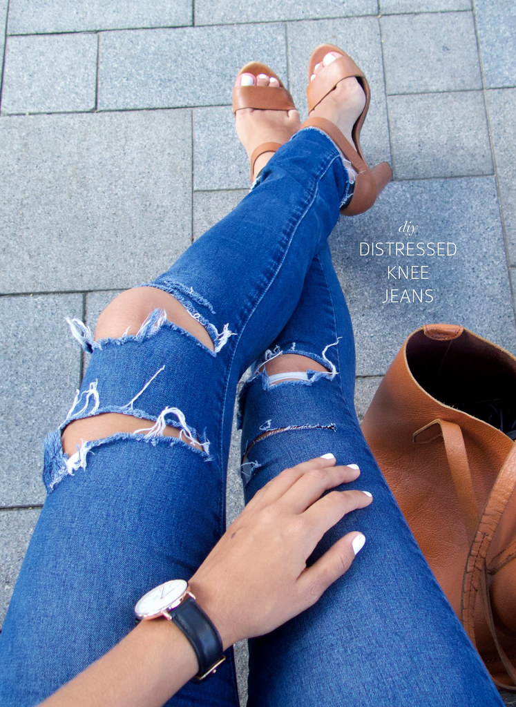How to distress your denim jeans