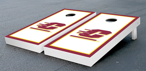 Central Michigan Chippewas Cornhole Game Set Border Wooden