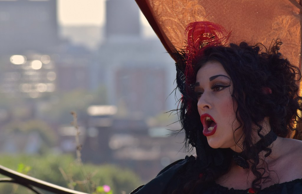 Spring-Heeled Jack Theatrical Trail, Everton Park, Liverpool 31.8.14