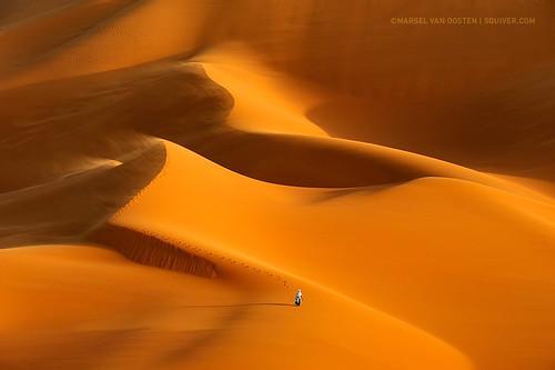 africa sunset orange photography sand dunes dune award international workshop sandstorm ipa awards libya select touareg dwarfed marsel phototrips photoworkshops phototours marselvanoosten squiver