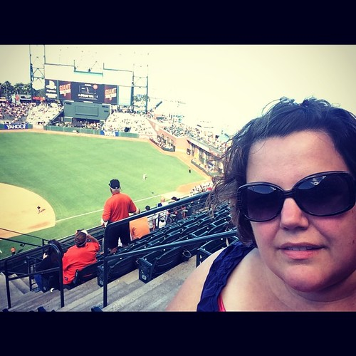 Oh my gosh, you guys, it's been 2 weeks since I posted a ballpark selfie and I thought you might all be missing them. Thankfully I found this one I'd forgotten to Instagram at the time. #sanfrancisco #attpark #sfgiants @MLB #baseball #kategoestocalifornia