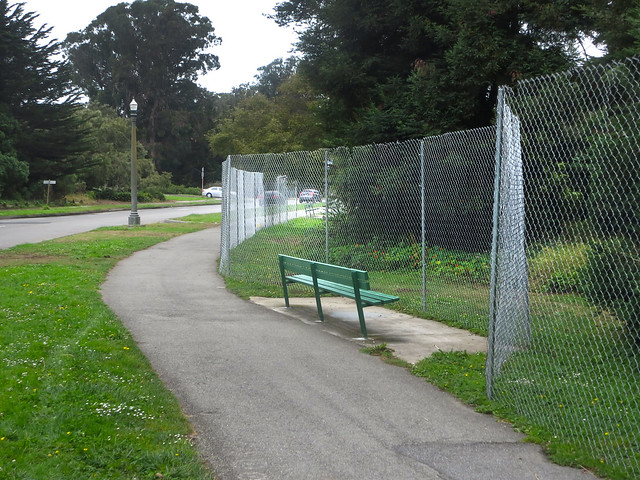 fencing in preparation for Outside Lands; Golden Gate Park, San Francisco (2014)