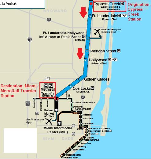 miami airport tri rail map
