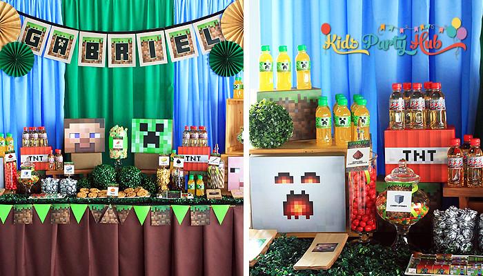 Minecraft Dessert and Candy Buffet